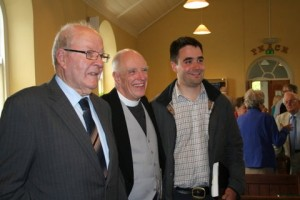 Revd Steven Wild with Jack Tamblyn and Partick Clark